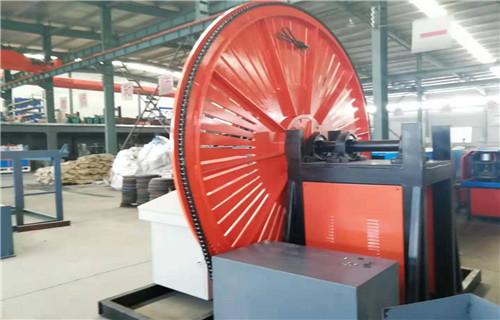 安徽蚌埠YW2200自動焊鋼筋彎圓機采用立式圓盤結構
