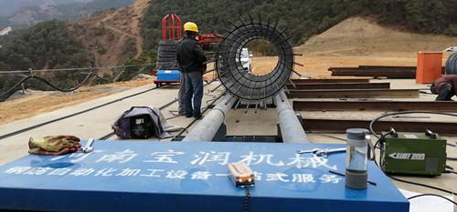 湖南省24米钢筋笼盘条缠绕机技术可靠